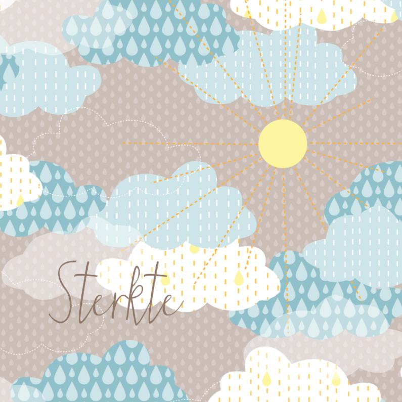 Condoleancekaarten - Condoleance met regenwolken