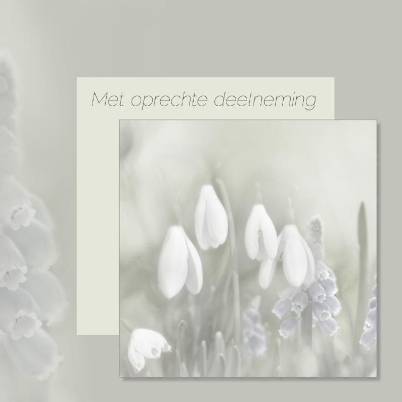 Condoleancekaarten - Condoleance met voorjaarsbloemen