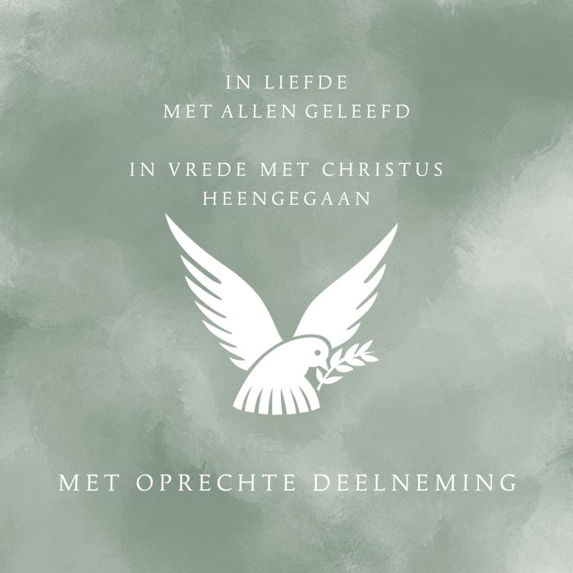 Condoleancekaarten - Condoleance vredesduif