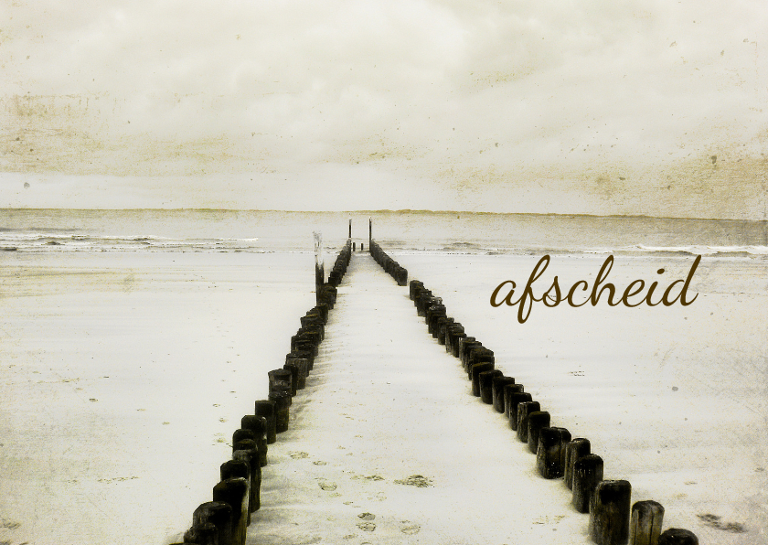 Condoleancekaarten - Condoleancekaart Afscheid Strand