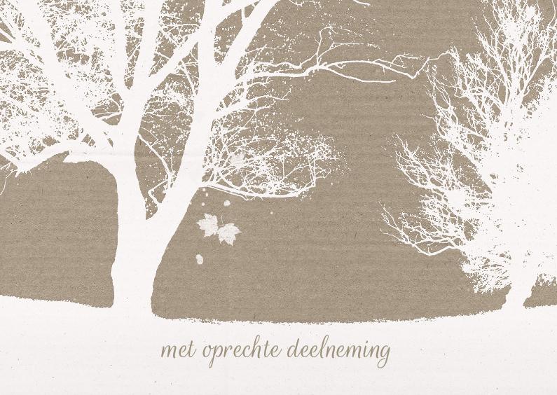 Condoleancekaarten - Condoleancekaart Bomen Wit