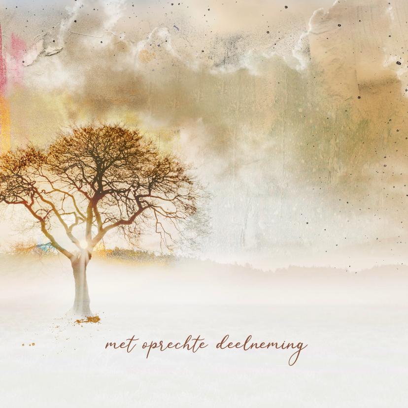 Condoleancekaarten - Condoleancekaart boom creatief deelneming