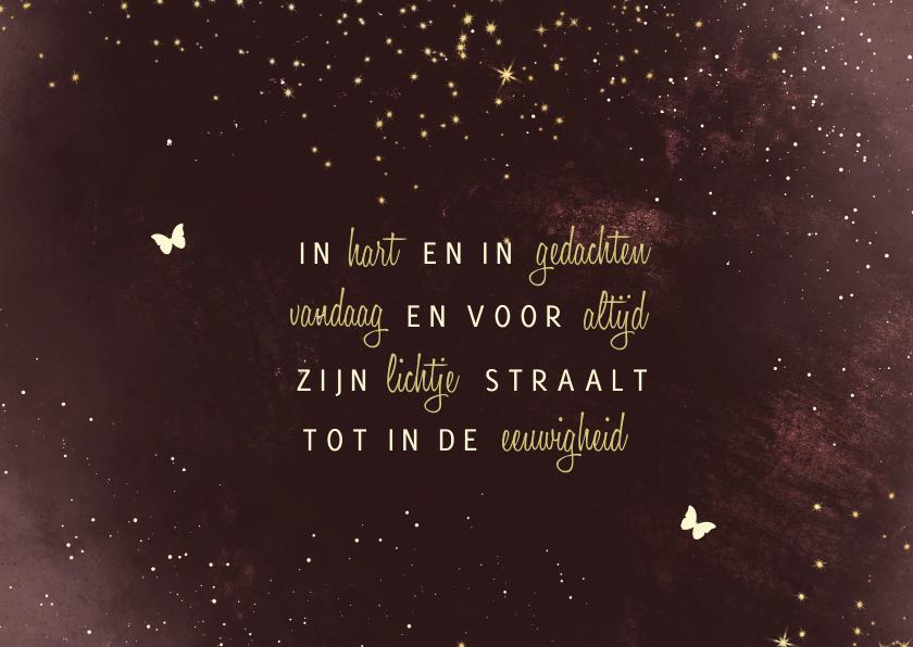 Condoleancekaarten - Condoleancekaart bordeaux met sparkles