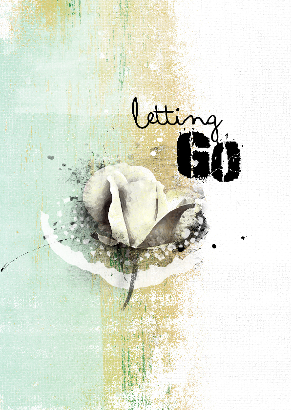 Condoleancekaarten - Condoleancekaart letting go