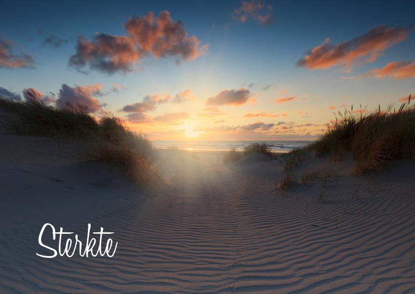 Condoleancekaarten - Condoleancekaart met een foto van de Hollandse Duinen