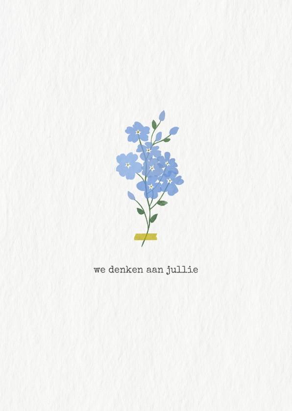 Condoleancekaarten - Condoleancekaart met vergeet-mij-nietjes