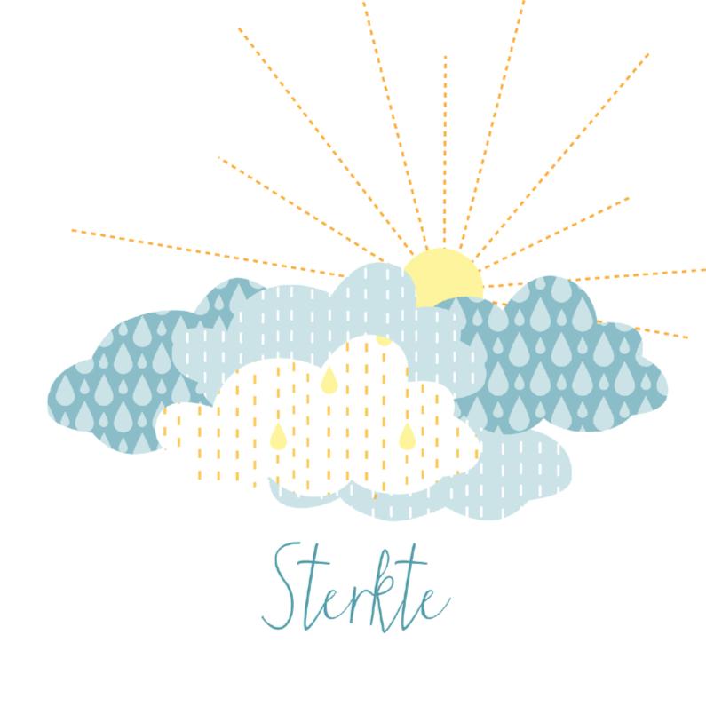 Condoleancekaarten - Condoleancekaart met wolken