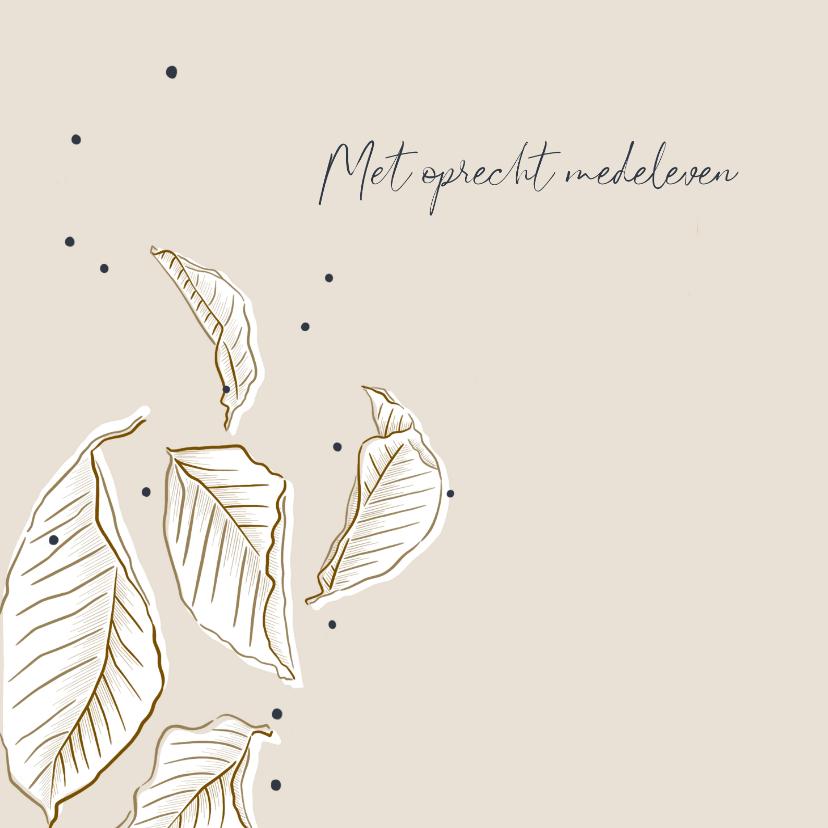 Condoleancekaarten - Condoleancekaart minimalistisch met bladeren