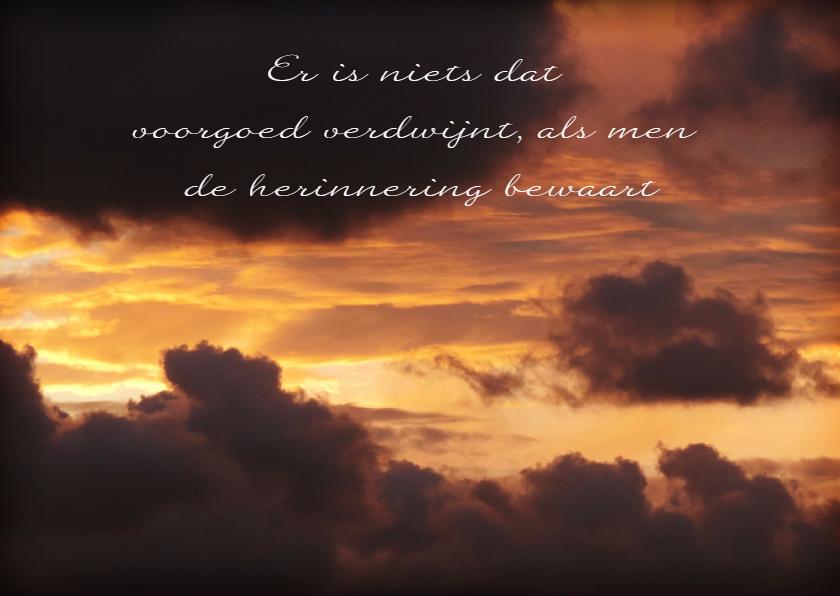 Condoleancekaarten - Condoleancekaart ondergaande zon met spreuk - SK