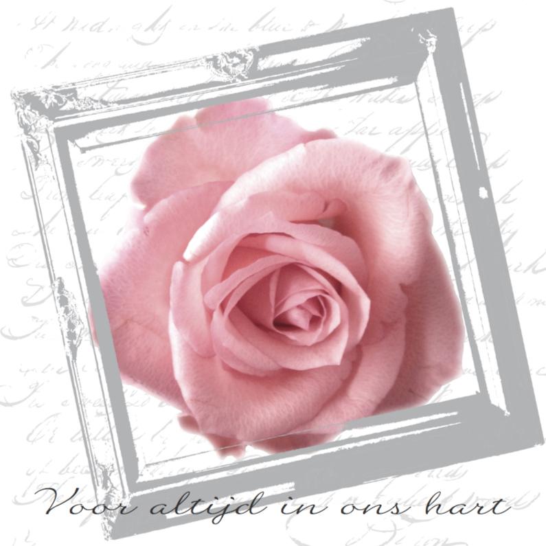 Condoleancekaarten - Condoleancekaart roos stijlvol