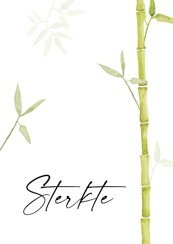 Condoleancekaarten - Condoleancekaart sterkte met mooie groene natuur