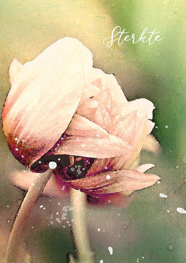 Condoleancekaarten - Condoleancekaart tulpen in de wind