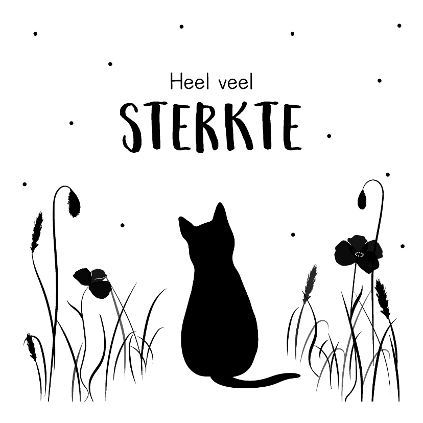 Condoleancekaarten - Condoleancekaart verlies van een kat