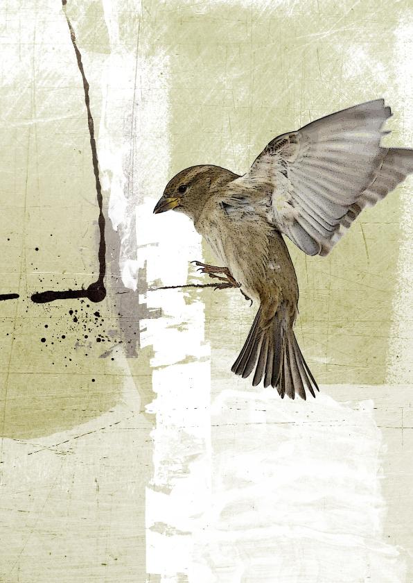 Condoleancekaarten - Condoleancekaart Vogel Landing