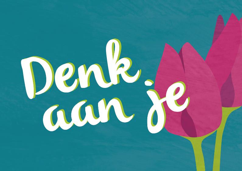 Condoleancekaarten - Denk aan je - tulpen