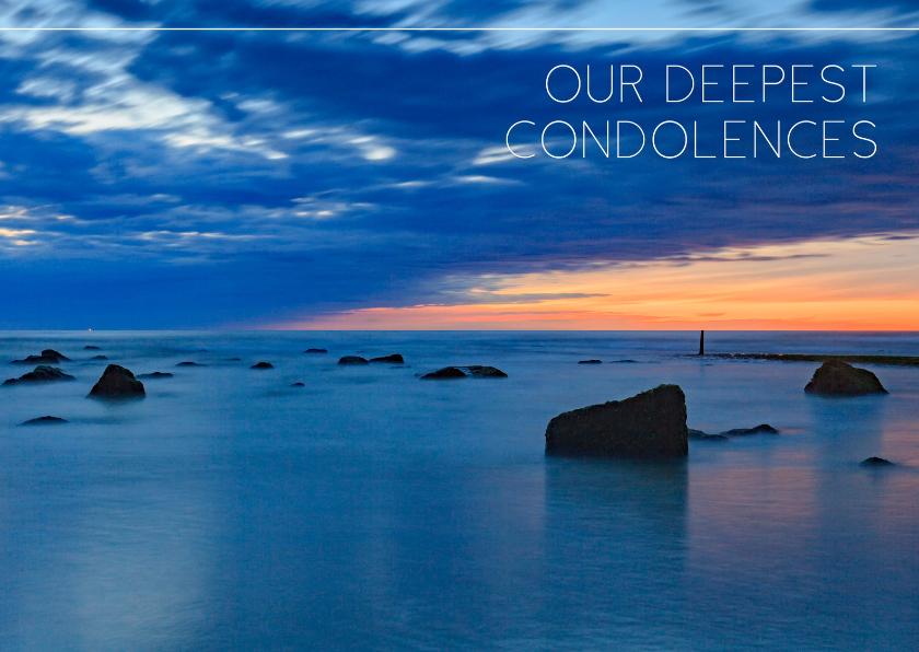 Condoleancekaarten - Engelstalige condoleancekaart