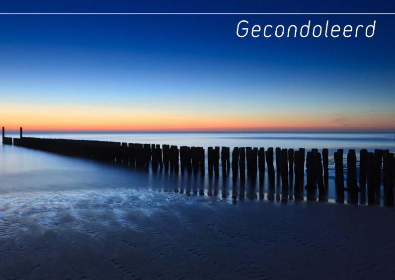 Condoleancekaarten - Golfbreker in Zeeland