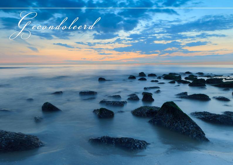 Condoleancekaarten - Golfbreker langs de Noordzee