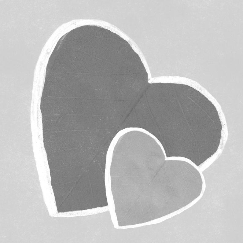 Condoleancekaarten - Harten grijs