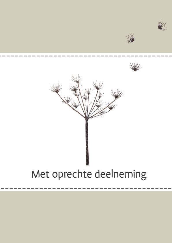 Condoleancekaarten - Kaart bloem