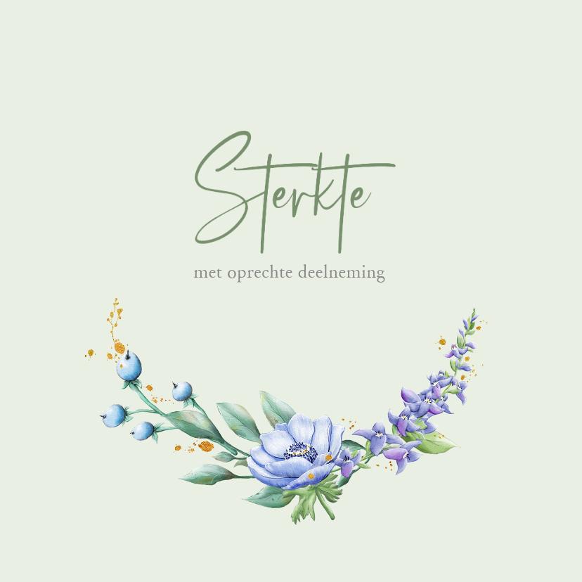 Condoleancekaarten - Mooie klassieke condoleancekaart met bloemen