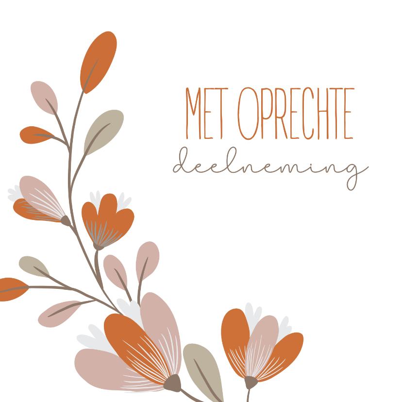 Condoleancekaarten - Rouwkaart met bloem