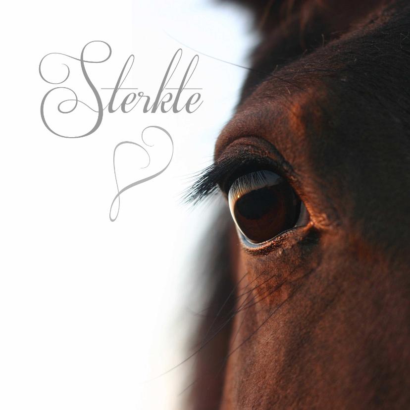 Condoleancekaarten - Sterkte close up paardenoog