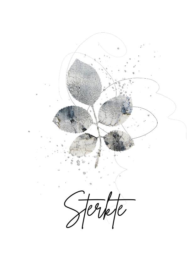 Condoleancekaarten - Sterktekaart tak structuur op wit