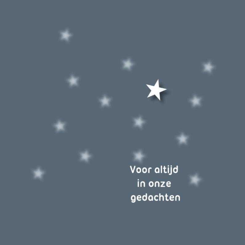 Condoleancekaarten - voor altijd in onze gedachten ster