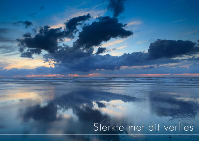 Condoleancekaarten - Wolken langs de kust