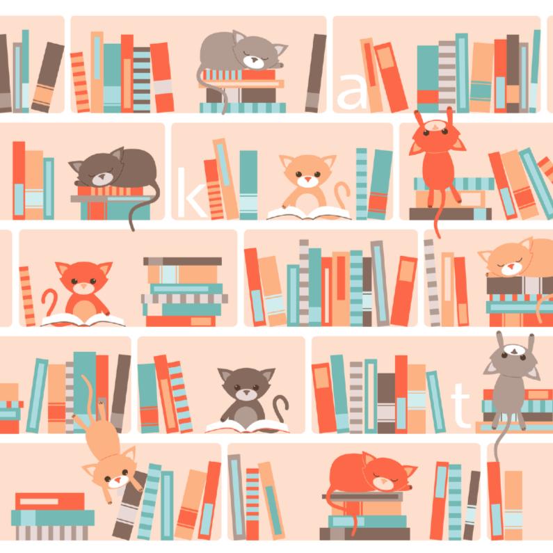 Dierenkaarten - Bibliotheekkatten
