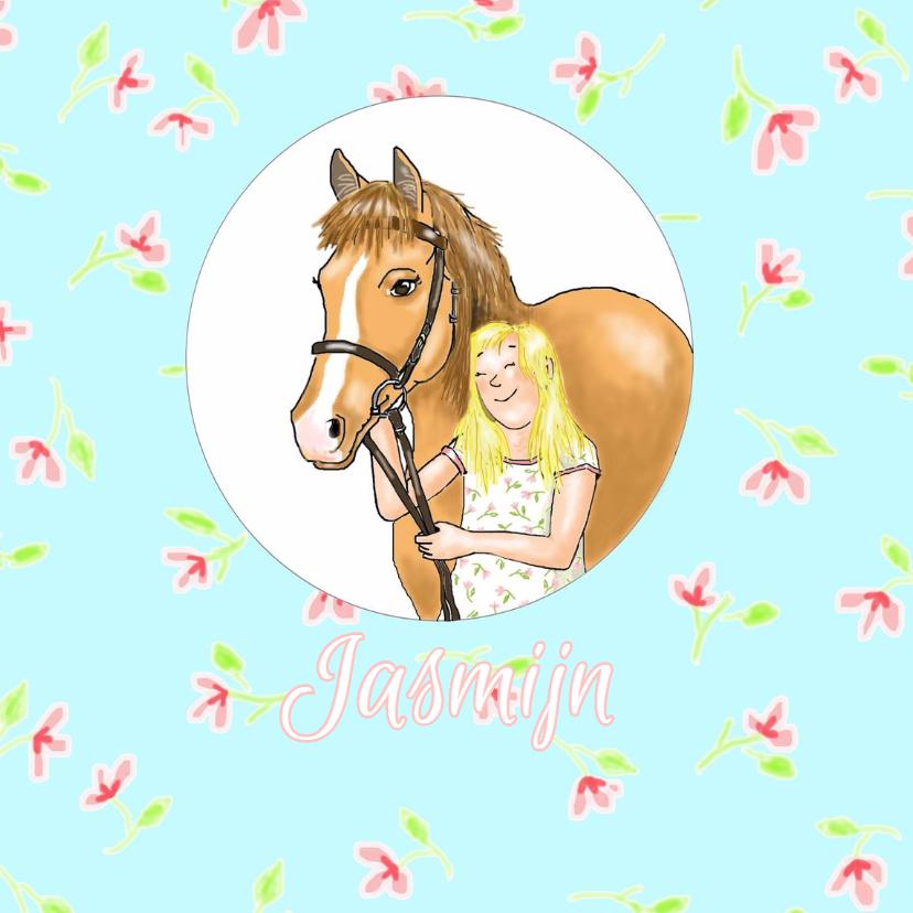 Dierenkaarten - Dieren - Jasmijn's paard