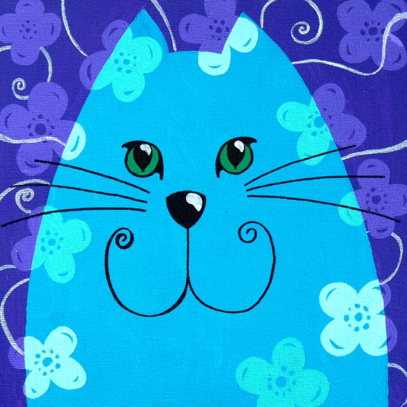 Dierenkaarten - Dierenkaart blauwe kat