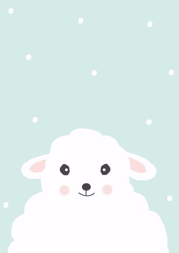 Dierenkaarten - Dierenkaart geïllustreerd schaap