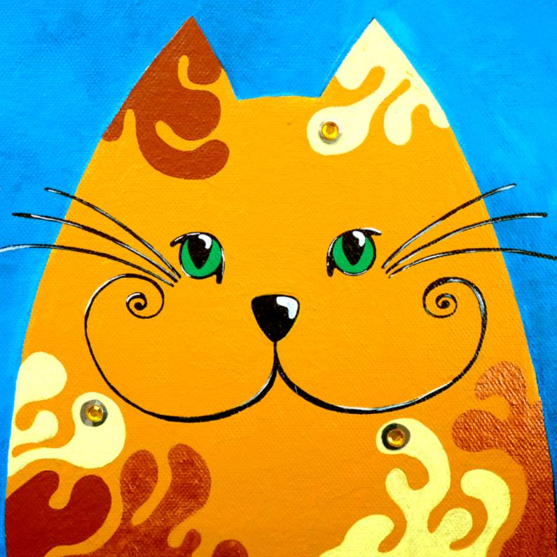 Dierenkaarten - Dierenkaart kat goudlokje