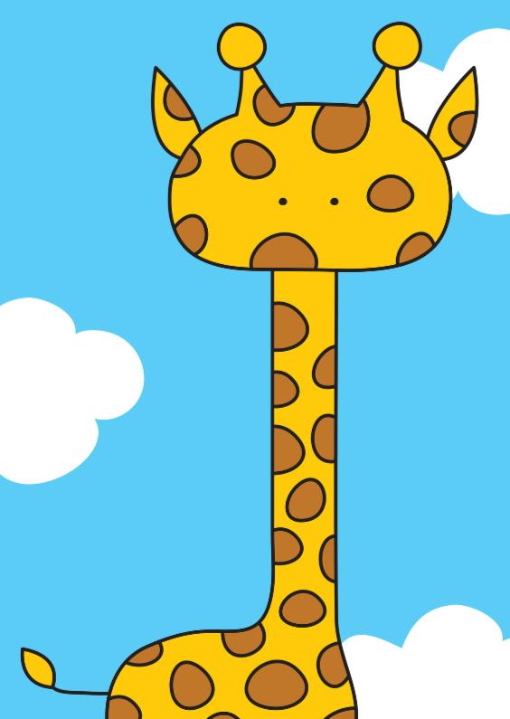 Dierenkaarten - Dierenkaart Lieve Giraffe