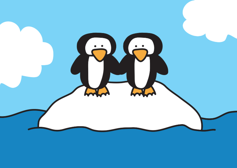 Dierenkaarten - Dierenkaart Pinguins