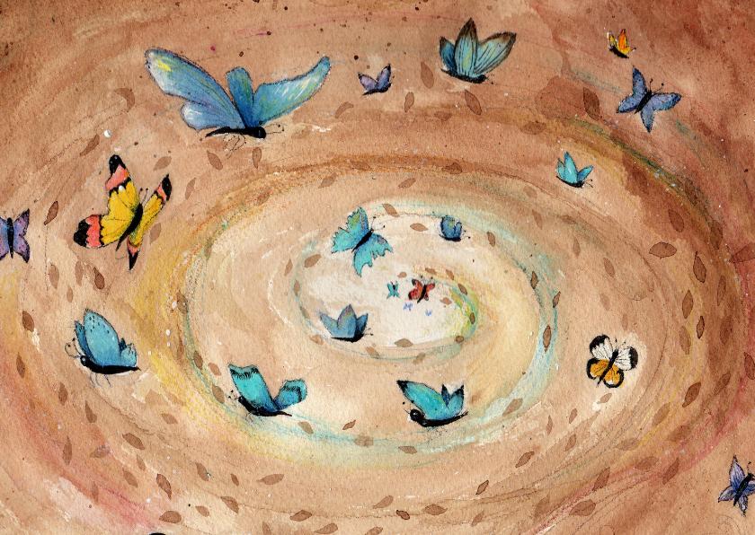 Dierenkaarten - Dierenkaart vlinders in je buik