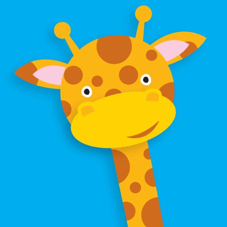 Dierenkaarten - Dierenkaart Vrolijke Giraffe