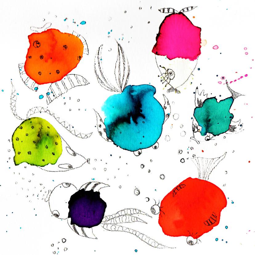 Dierenkaarten - Een zee van groetjes
