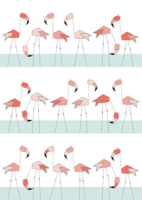 Dierenkaarten - Flamingo familie