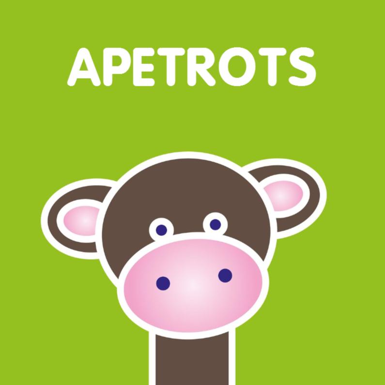 Dierenkaarten - Grappige kaart met een aapje
