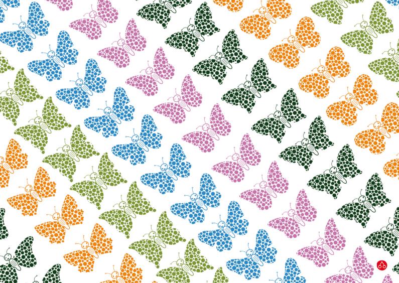 Dierenkaarten - Happy butterflies