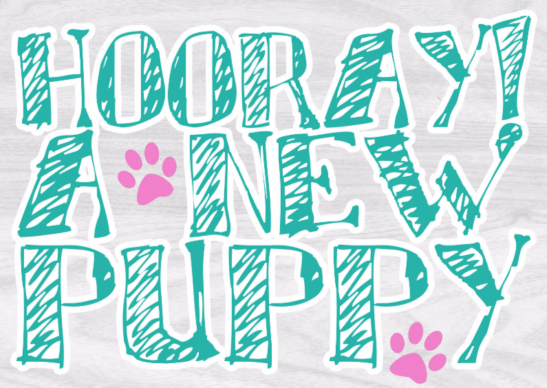 Dierenkaarten - Puppykaart