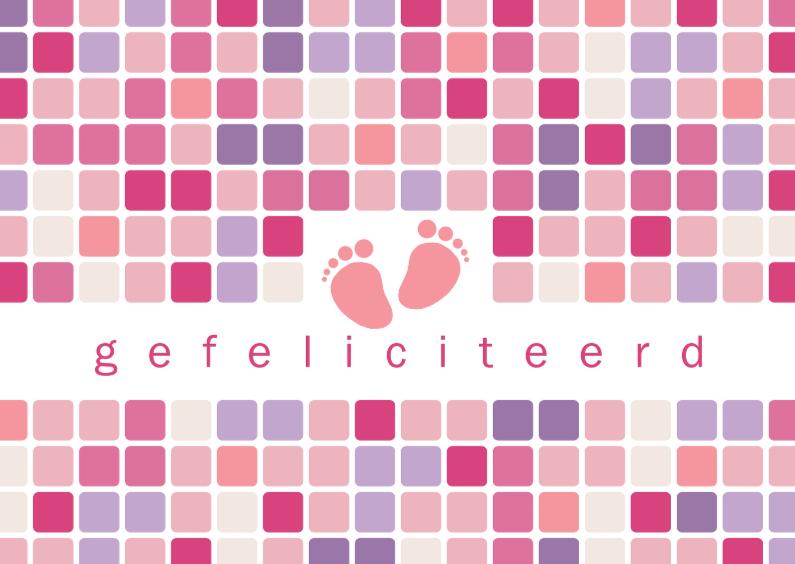 Felicitatiekaarten - 12001 Felicitatiekaart geboorte meisje