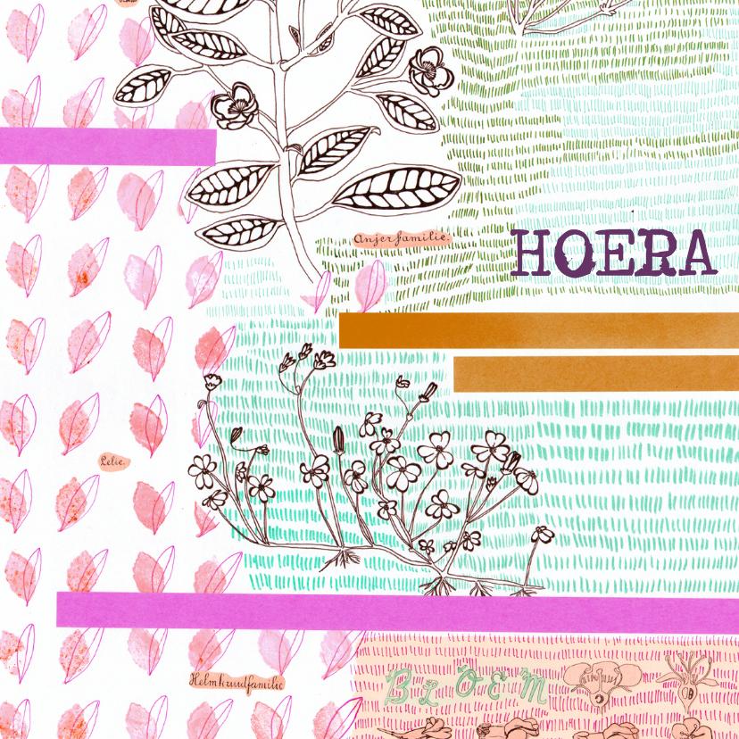 Felicitatiekaarten - 3 x Hiep Hiep Hoera