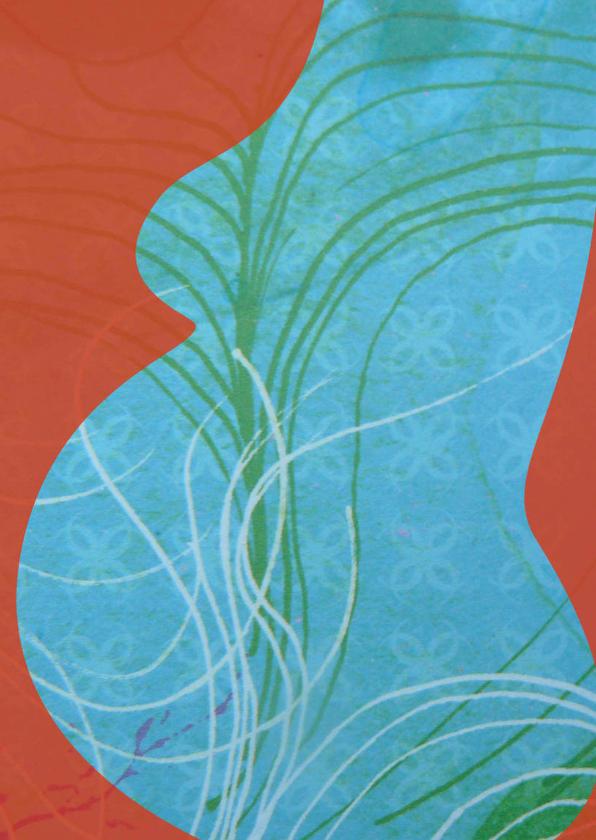 Felicitatiekaarten - Abstract - kindje op komst