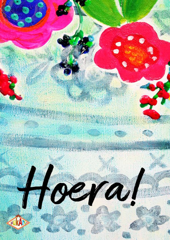 Felicitatiekaarten - Ansichtkaart Hoera PA