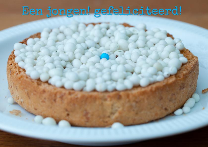 Felicitatiekaarten - blauw muisje