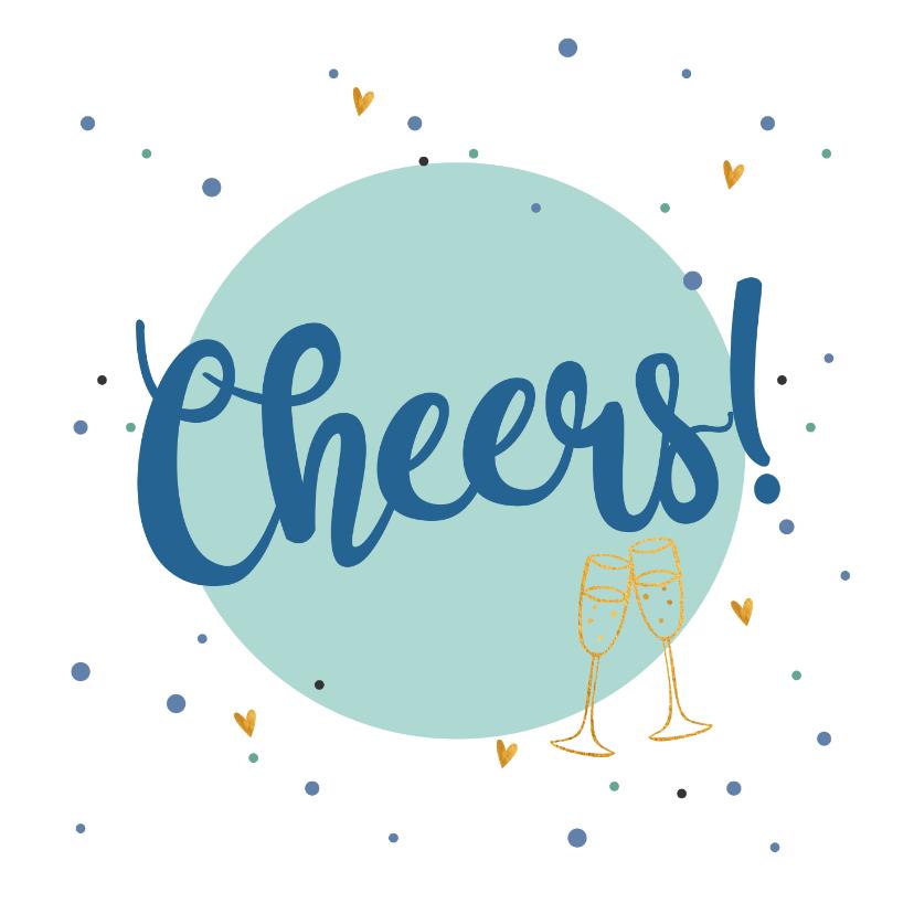 Felicitatiekaarten - Cheers - love felicitatiekaart